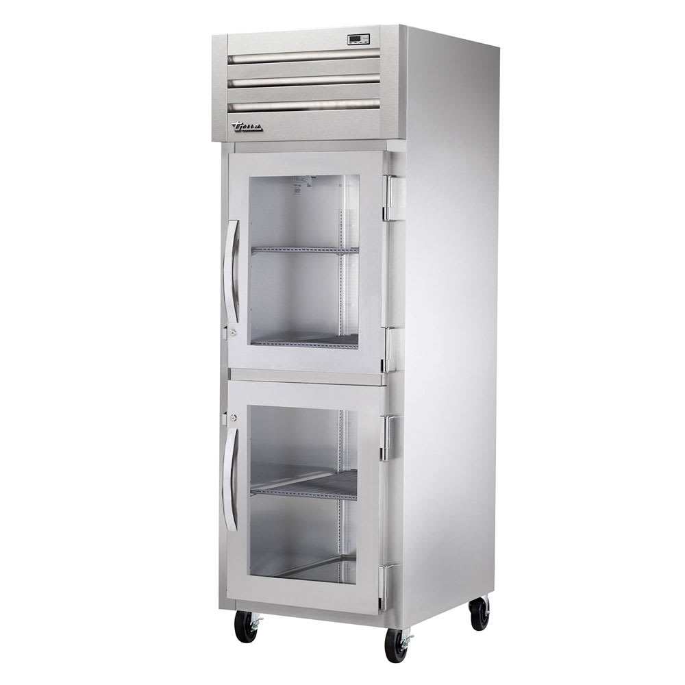 "True STG1R-2HG-HC 27.5"" Single Section Reach-In Refrigerator, (2) Glass Door, 115v"