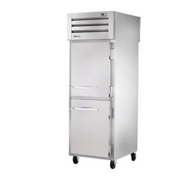 """True STG1RPT-2HS-2HS 27.5"""" Single Section Pass-Thru Refrigerator, (2) Solid Door, 115v"""