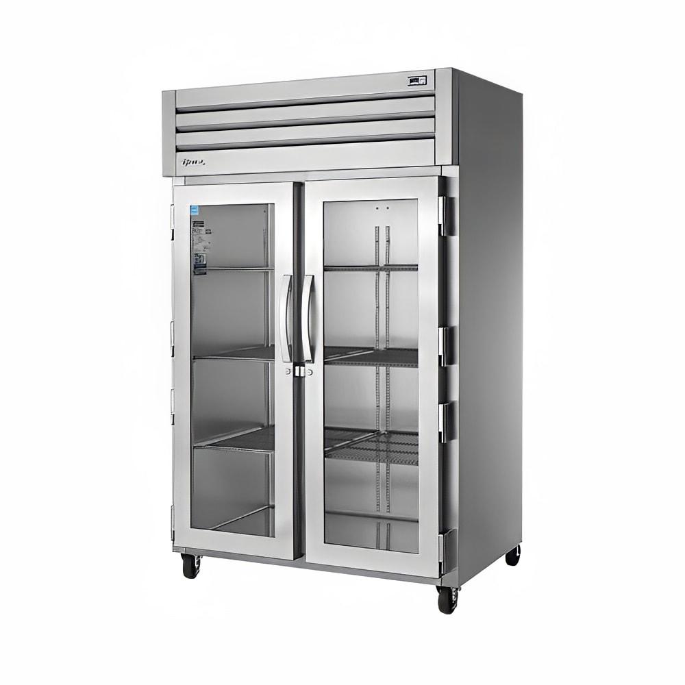 "True STG2R-2G-HC 52.63"" Two Section Reach-In Refrigerator, (2) Glass Door, 115v"