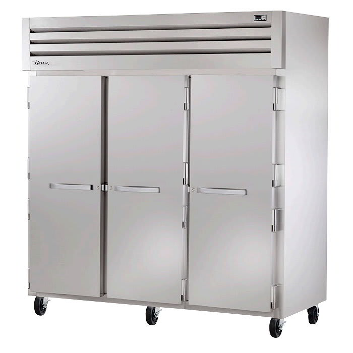 "True STG3F-3S 77.75"" Three Section Reach-In Freezer, (3) Solid Doors, 208v/1ph"