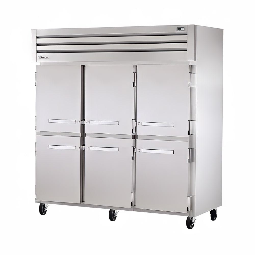 "True STG3F-6HS 77.75"" Three Section Reach-In Freezer, (6) Solid Door, 208 230v/1ph"