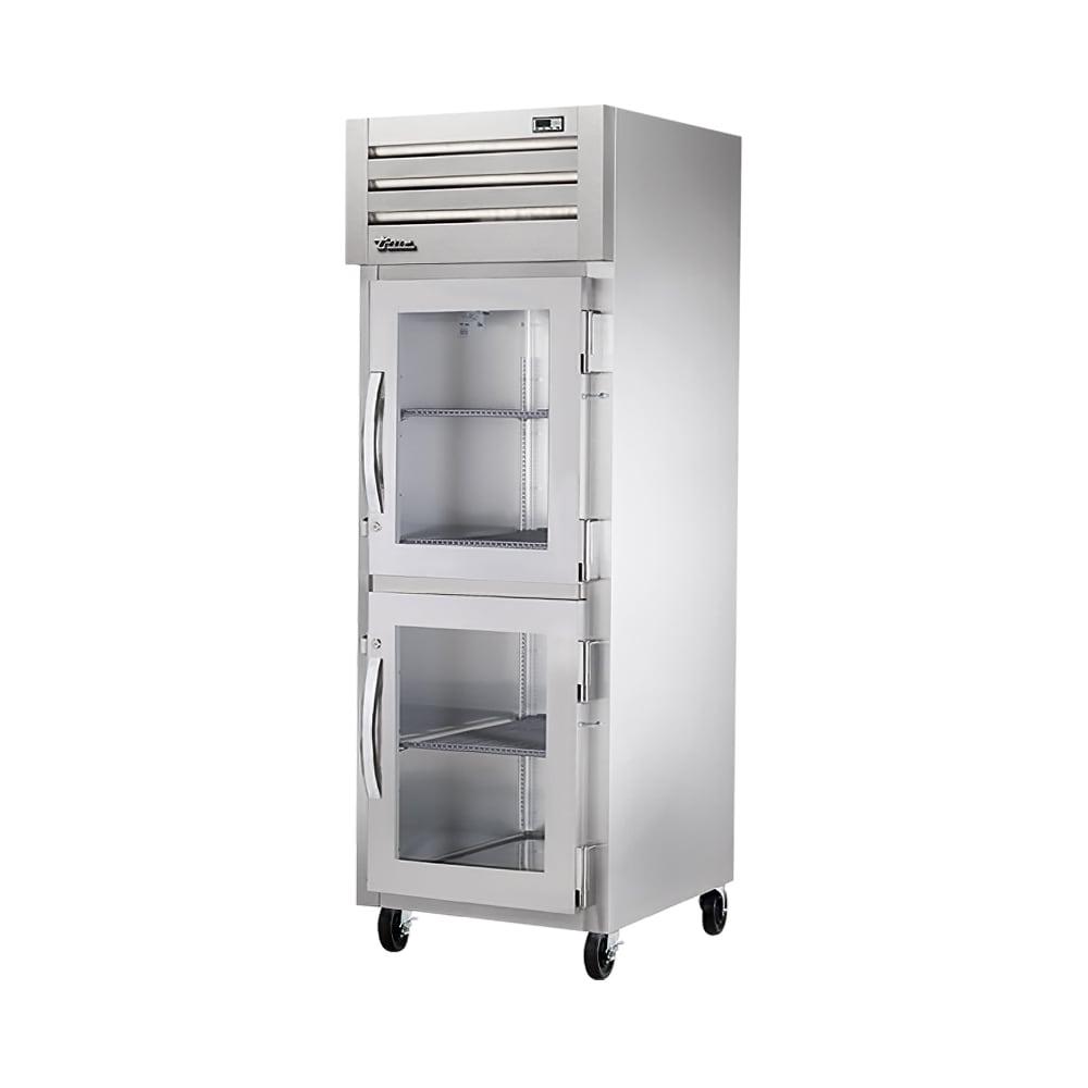 "True STR1F-2HG-HC 27.5"" Single Section Reach-In Freezer, (2) Glass Door, 115v"