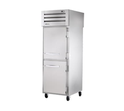 "True STR1FPT-2HS-2HS 27.5"" Single Section Pass-Thru Freezer, (2) Solid Door, 115v"
