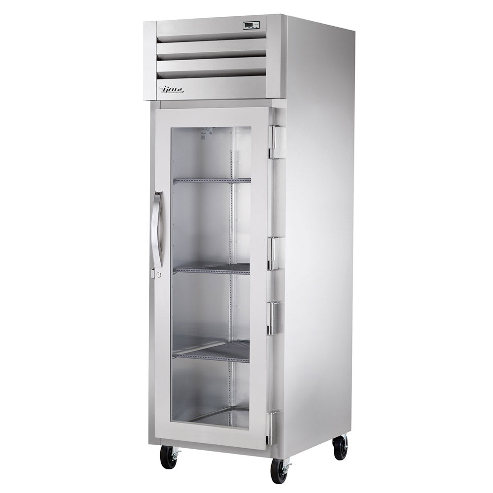"True STR1R-1G-HC 27.5"" Single Section Reach-In Refrigerator, (1) Glass Door, 115v"