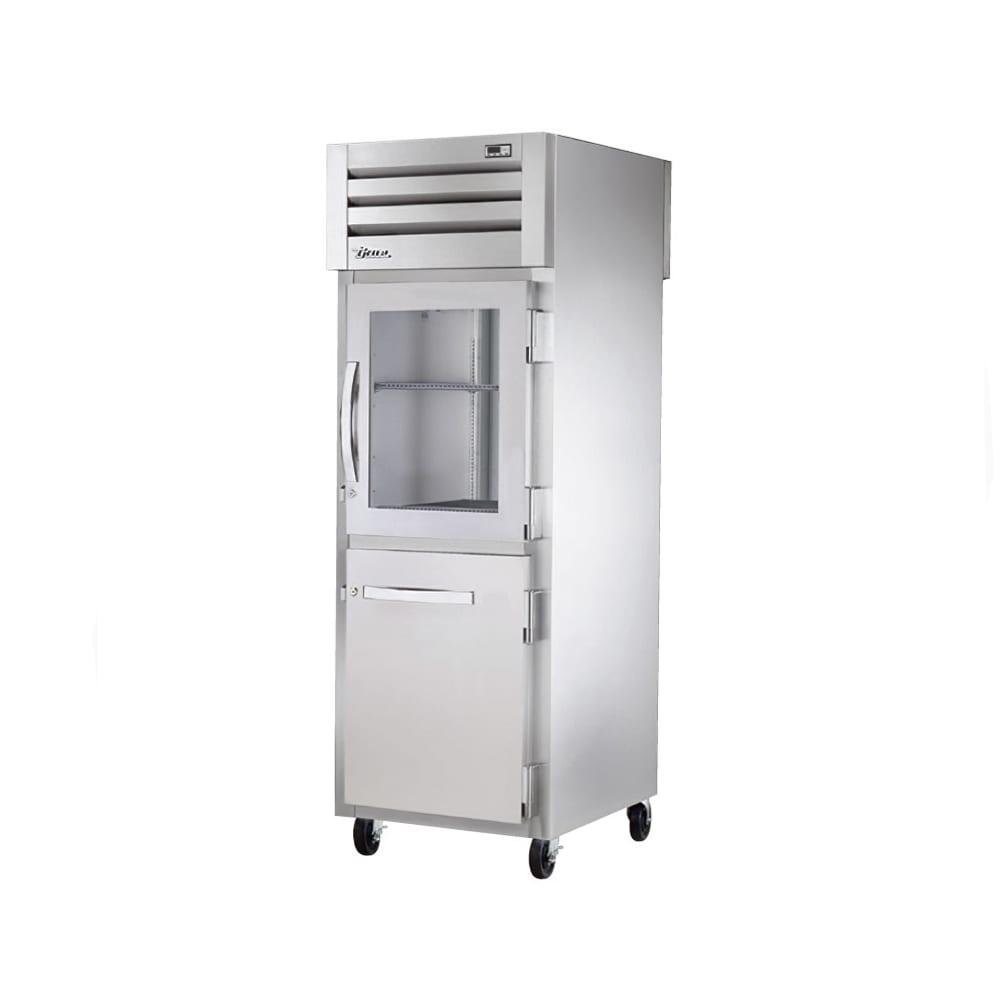 """True STR1R-1HG/1HS-HC 27.5"""" Single Section Reach-In Refrigerator, (1) Solid Door, (1) Glass Door, 115v"""
