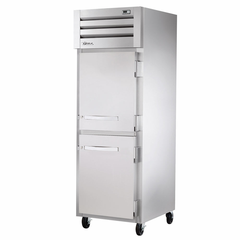 "True STR1R-2HS-HC 27.5"" Single Section Reach-In Refrigerator, (2) Solid Door, 115v"