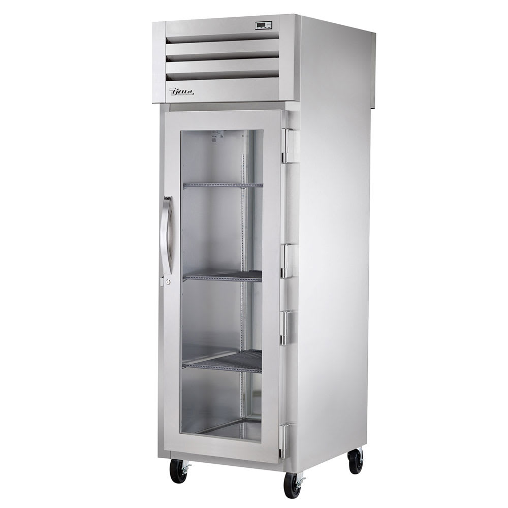 "True STR1RPT-1G-1S-HC 27.5"" Single Section Pass-Thru Refrigerator, (1) Glass Door, 115v"