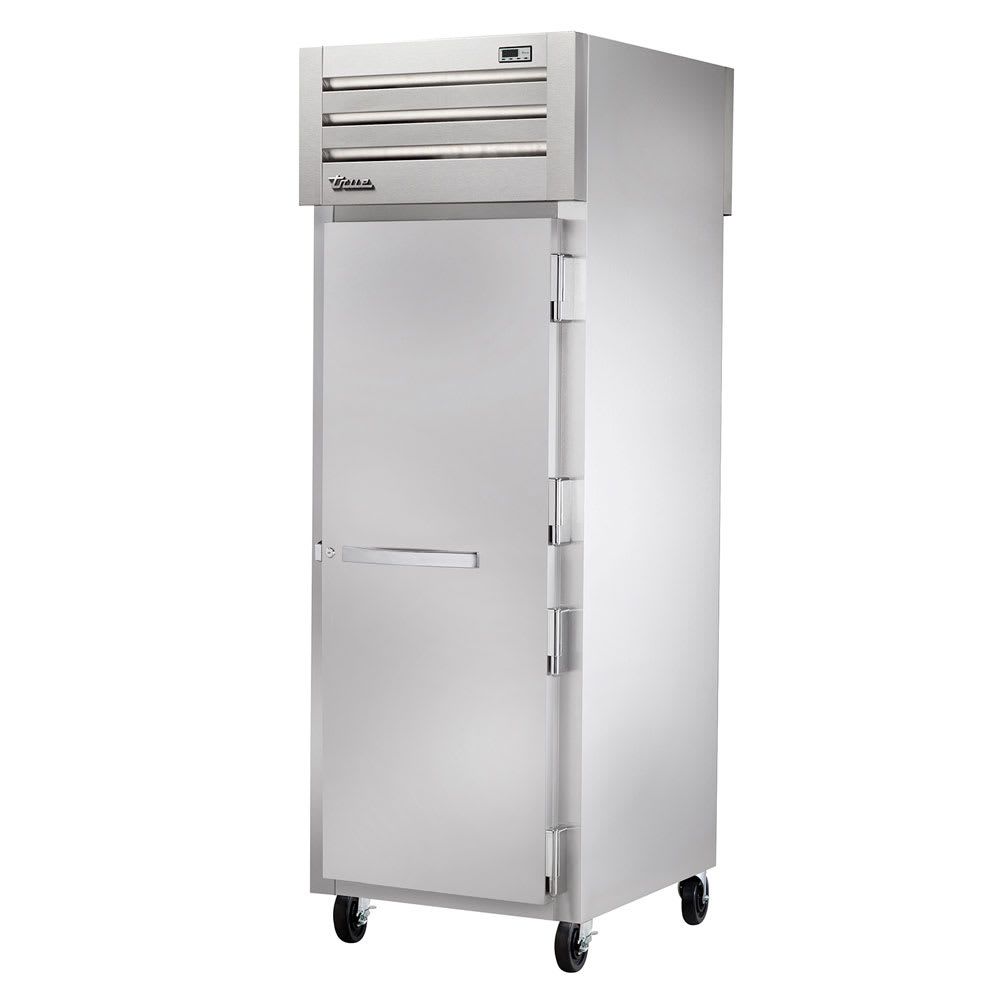"True STR1RPT-1S-1S-HC 27.5"" Single Section Pass-Thru Refrigerator, (1) Solid Door, 115v"