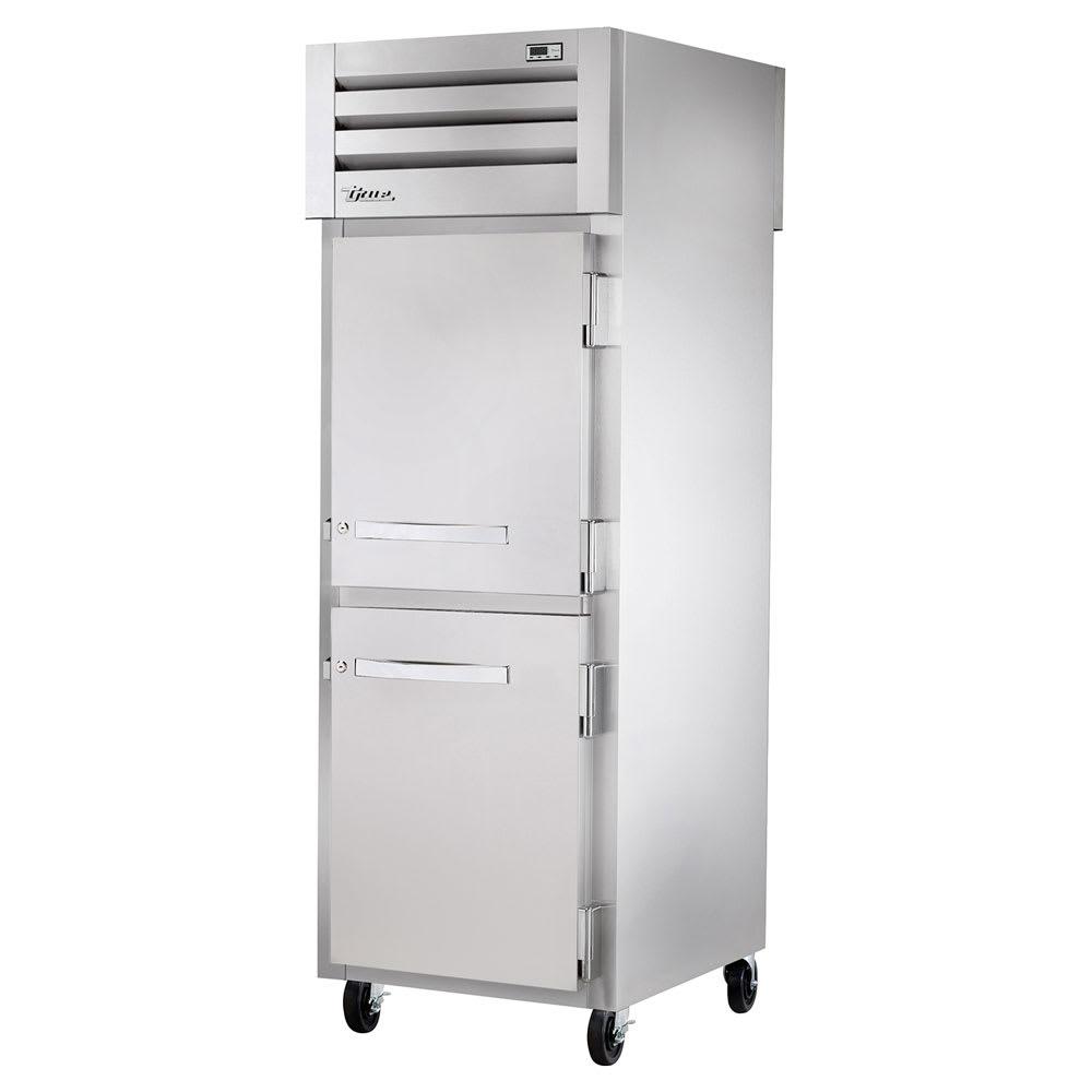 """True STR1RPT-2HS-1S-HC 27.5"""" Single Section Pass-Thru Refrigerator, (2) Solid Door, 115v"""