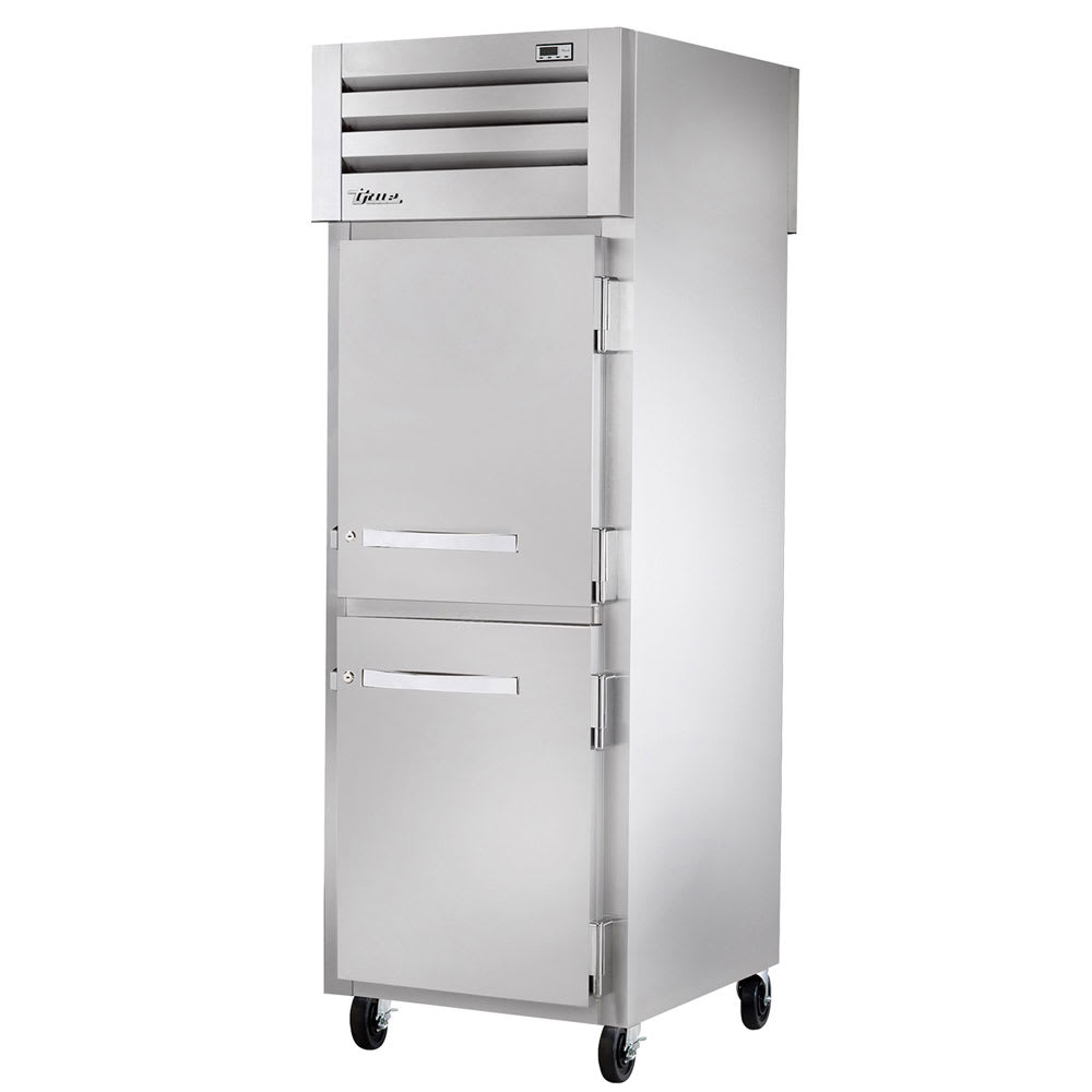 "True STR1RPT-2HS-2HG 27.5"" Single Section Pass-Thru Refrigerator, (2) Solid Doors, 115v"