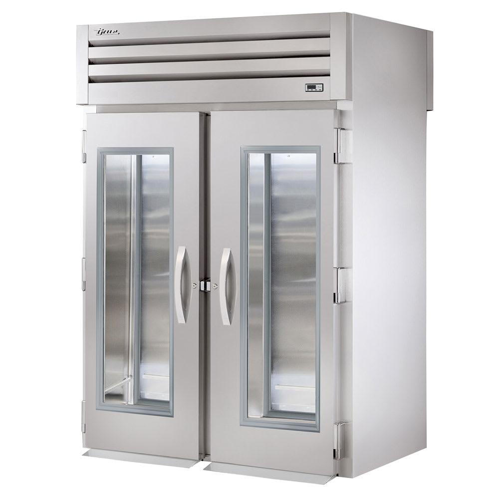 """True STR2RRT-2G-2S 68"""" Two Section Roll-Thru Refrigerator, (2) Glass Door, 115v"""