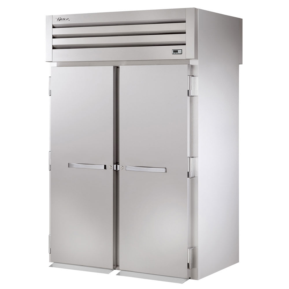 "True STR2RRT89-2S-2S 68"" Two Section Reach-In Refrigerator, (2) Solid Doors, Roll-Thru, 115v"