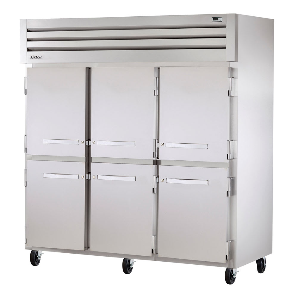 "True STR3F-6HS 77.75"" Three Section Reach-In Freezer, (6) Solid Door, 208-230v/1ph"