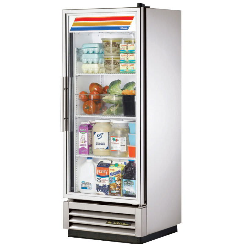 true t 12g hcfgd01 25 single section reach in refrigerator 1 glass door 115v - Refridgerator Glass Door