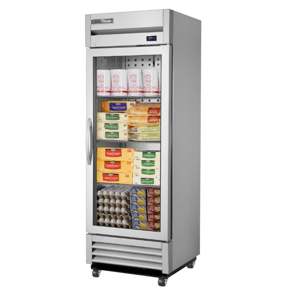 "True T-19G-HC~FGD01 27"" Single Section Reach-In Refrigerator, (1) Glass Door, 115v"