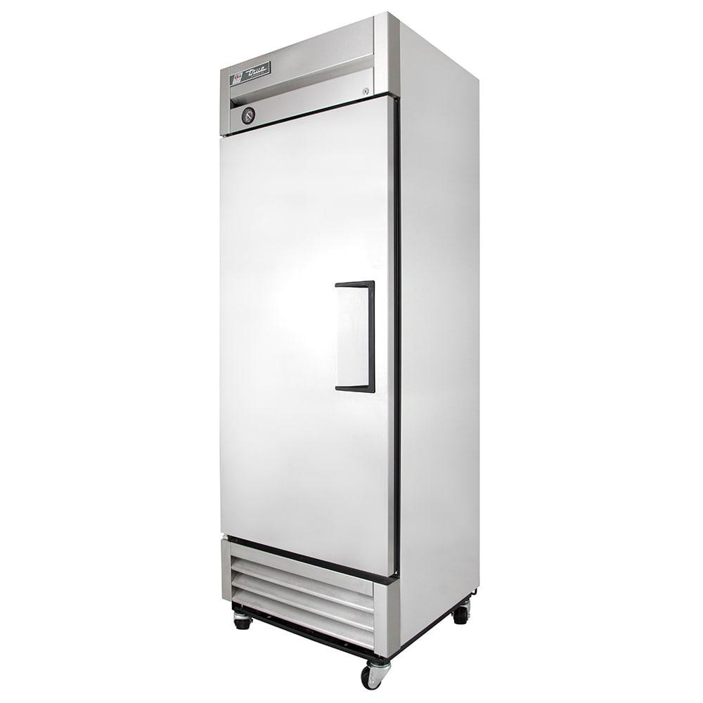 """True T-19-HC 27"""" Single Section Reach-In Refrigerator, Left Hinge Solid Door, 115v"""