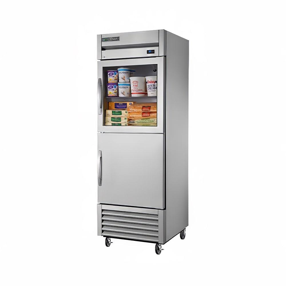 """True T-23-1-G-1-HC~FGD01 27"""" Single Section Reach-In Refrigerator, (1) Solid Door (1) Glass Door, 115v"""