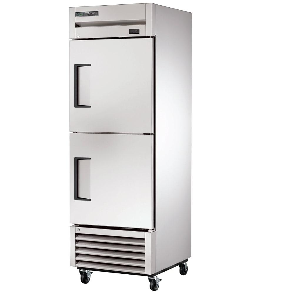 """True T-23-2-HC 27"""" Single Section Reach-In Refrigerator, (2) Solid Door, 115v"""