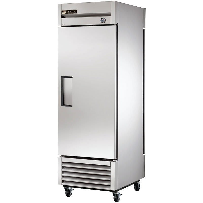"True T-23PT-HC 27"" Single Section Pass-Thru Refrigerator, (1) Solid Door, 115v"