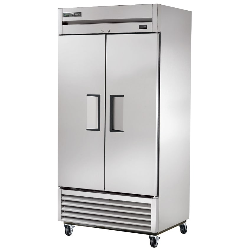 "True T-35F-HC 39.5"" Two Section Reach-In Freezer, (2) Solid Doors, 115v"