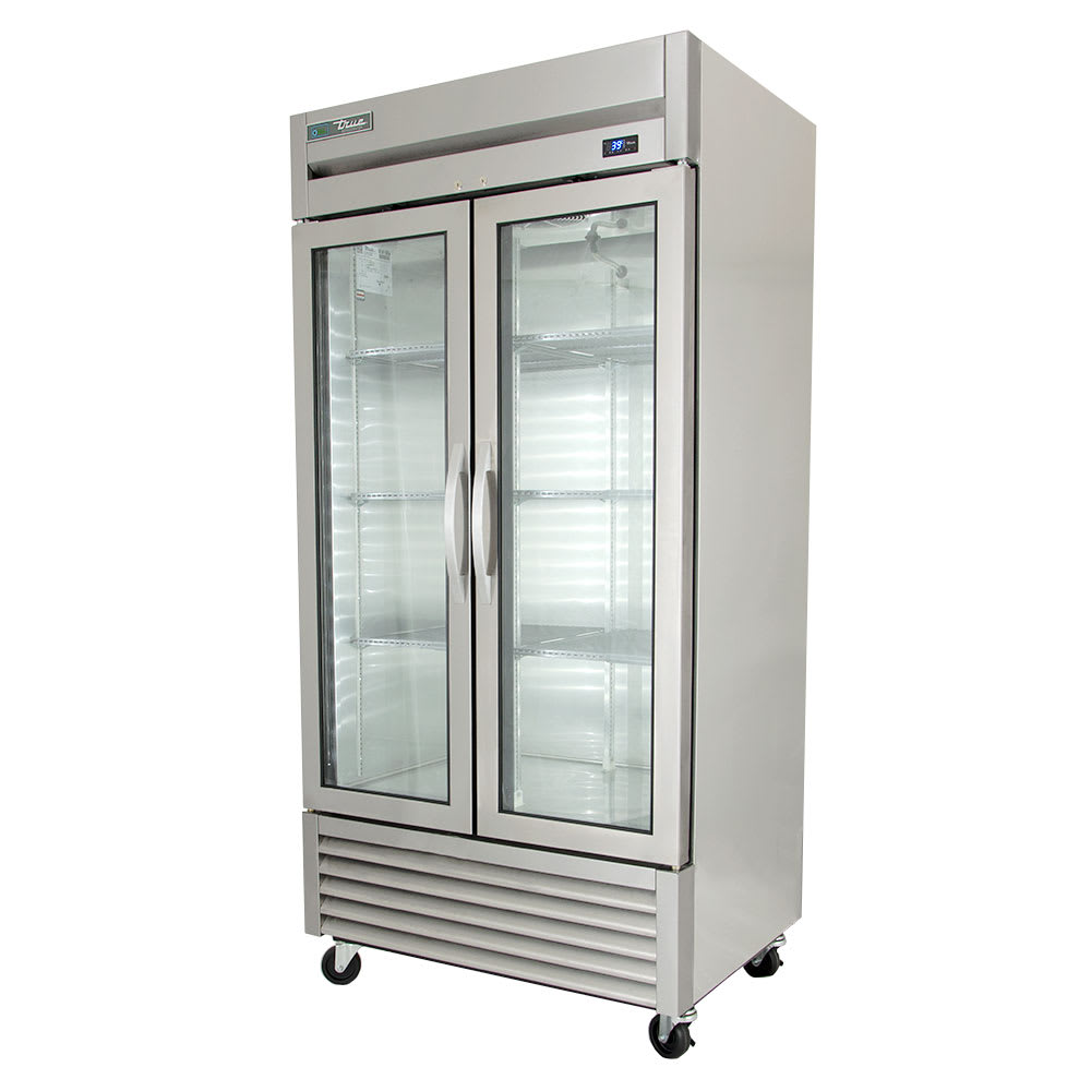 """True T-35G-HC~FGD01 39.6"""" Two Section Reach-In Refrigerator, (2) Glass Doors, 115v"""