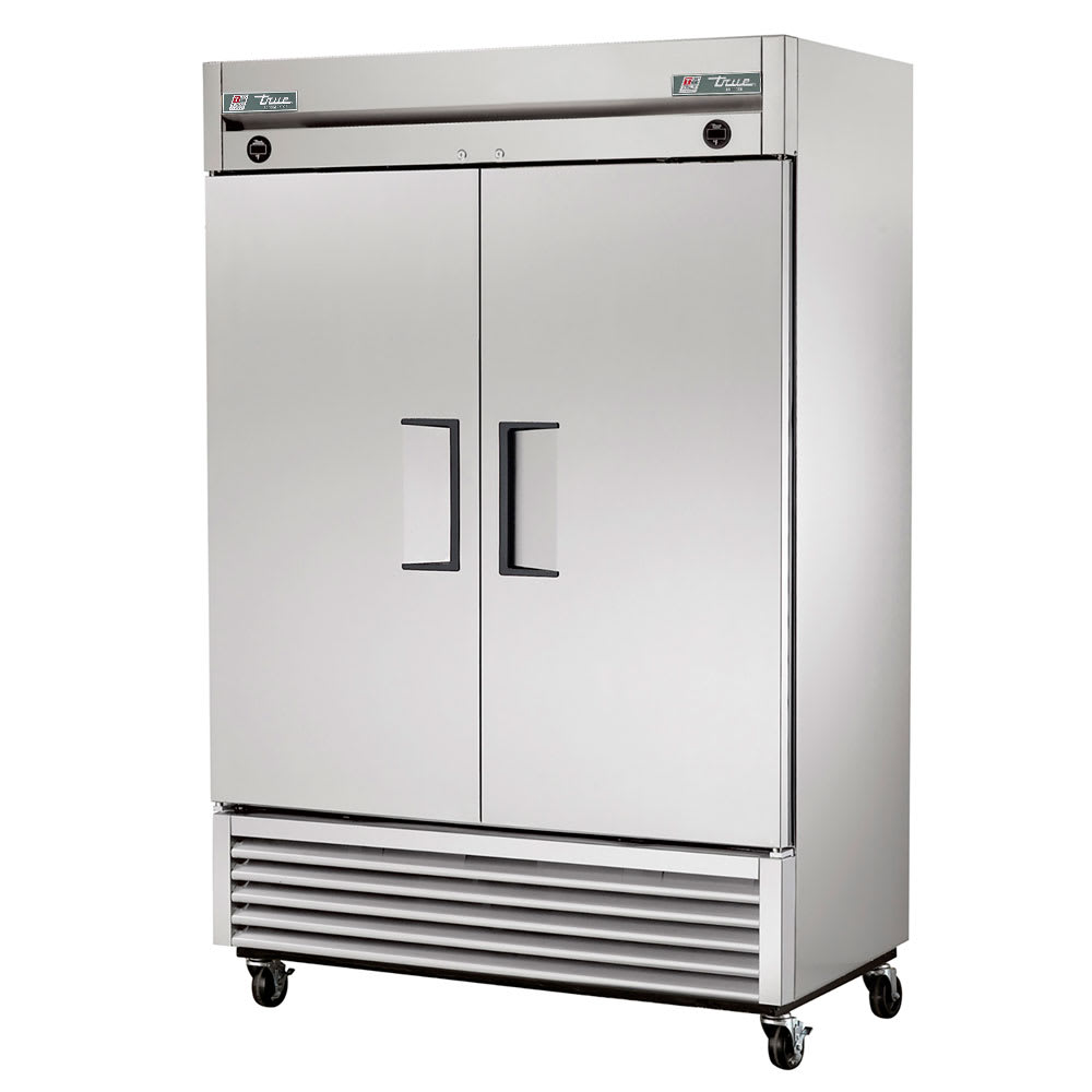 "True T-49DT 54"" Two Section Commercial Refrigerator Freezer - Solid Doors, Bottom Compressor, 115/208 230v"