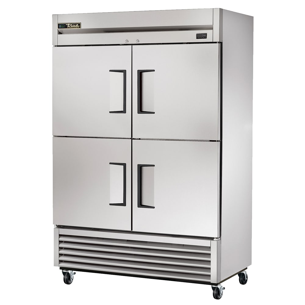 "True T-49F-4-HC 54"" Two Section Reach-In Freezer, (4) Solid Door, 115v"