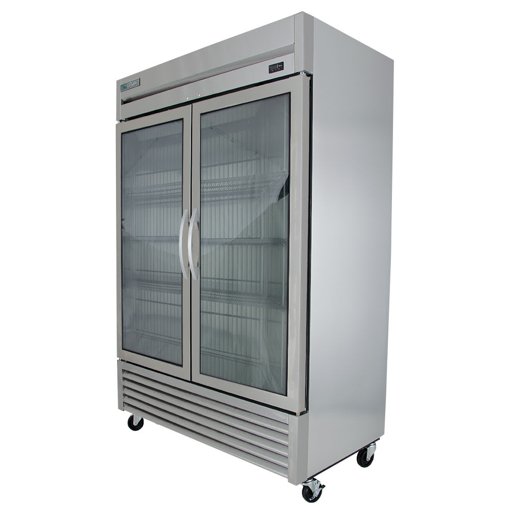 True T 49fg Hc Fgd01 54 Two Section Reach In Freezer 2 Glass Doors 115v