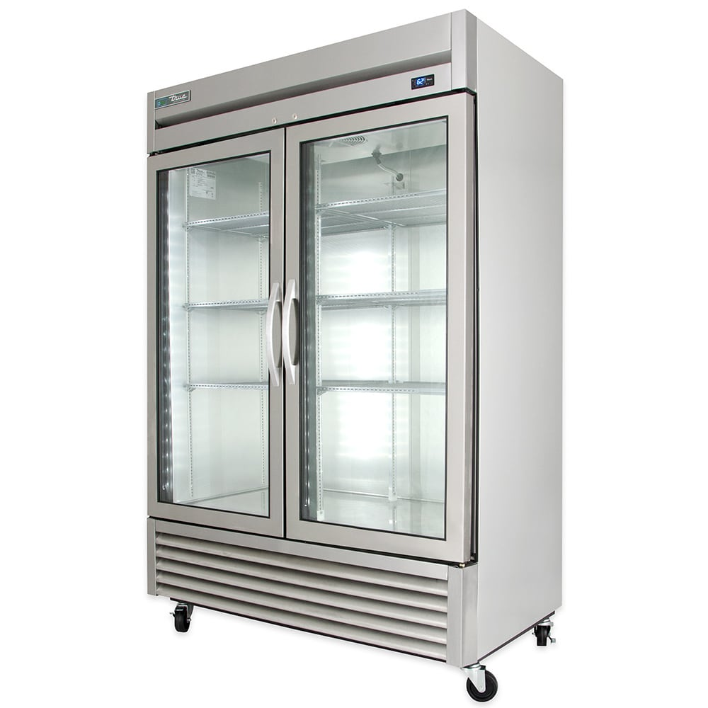True T 49g Hc Fgd01 54 Two Section Reach In Refrigerator 2 Glass Door 115v