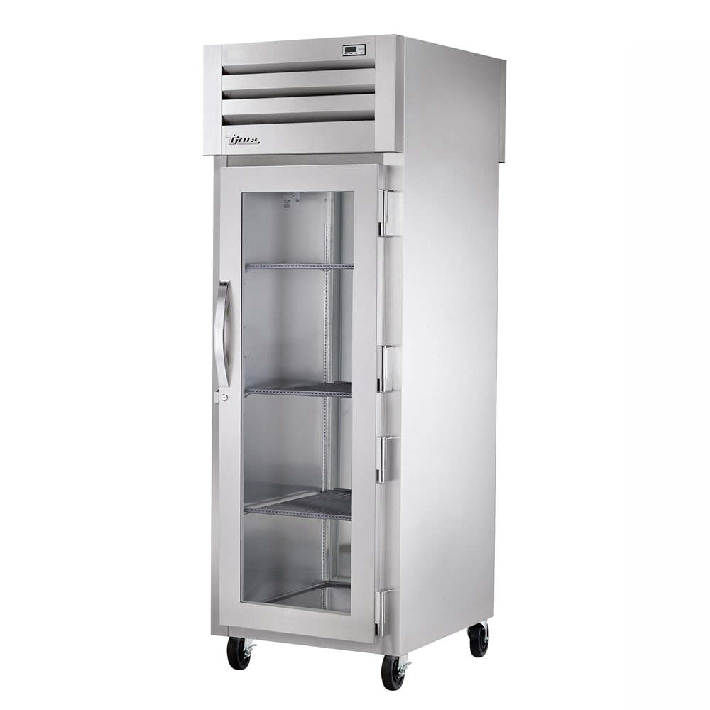 """True STA1H-1G 27-1/2"""" Reach-In Heated Cabinet - 1-Section, Glass Full Door, Stainless 208-230v"""