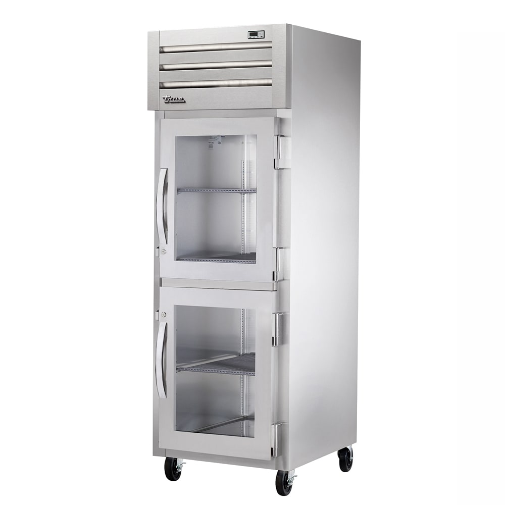 """True STA1H-2HG 27-1/2"""" Reach-In Heated Cabinet - 1-Section, 2-Glass Half Doors 208-230v"""