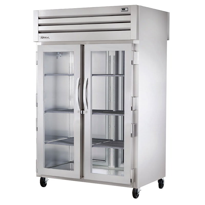 "True STA2HPT-2G-2S 53"" Reach-In Heated Cabinet - 2-Section, 2-Solid/2-Glass Half Doors 115/208-230v"