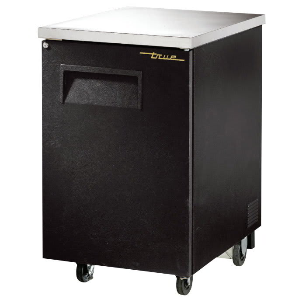 """True TBB-1-HC 23.5"""" (1) Section Bar Refrigerator - Swinging Solid Door, 115v"""