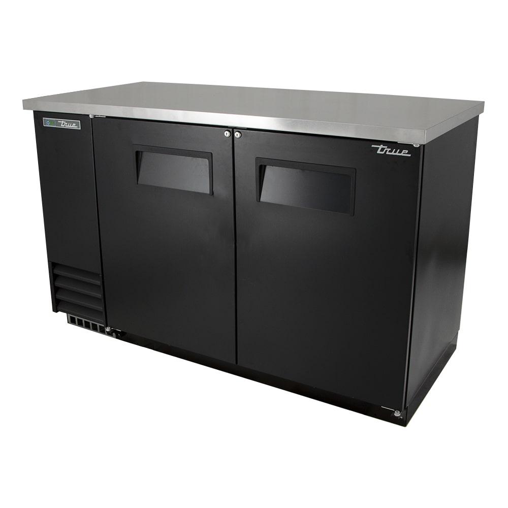 """True TBB-2-HC 59"""" (2) Section Bar Refrigerator - Swinging Solid Doors, 115v"""