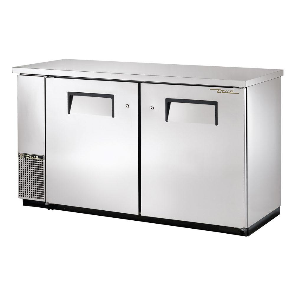 """True TBB-24-60FR-S-HC 61"""" (2) Section Bar Refrigerator - Swinging Solid Doors, 115v"""
