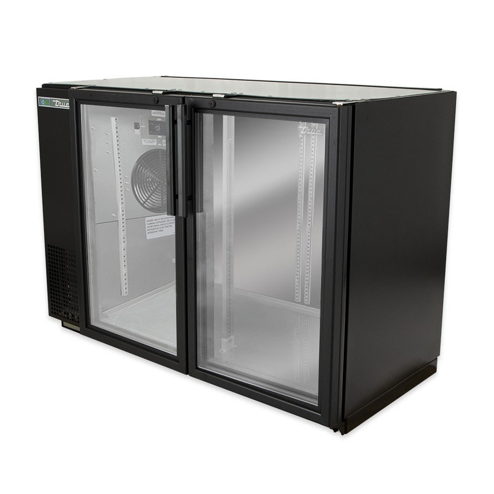 "True TBB-24GAL-48G-HC-LD 48"" (2) Section Bar Refrigerator - Swinging Glass Doors, 115v"