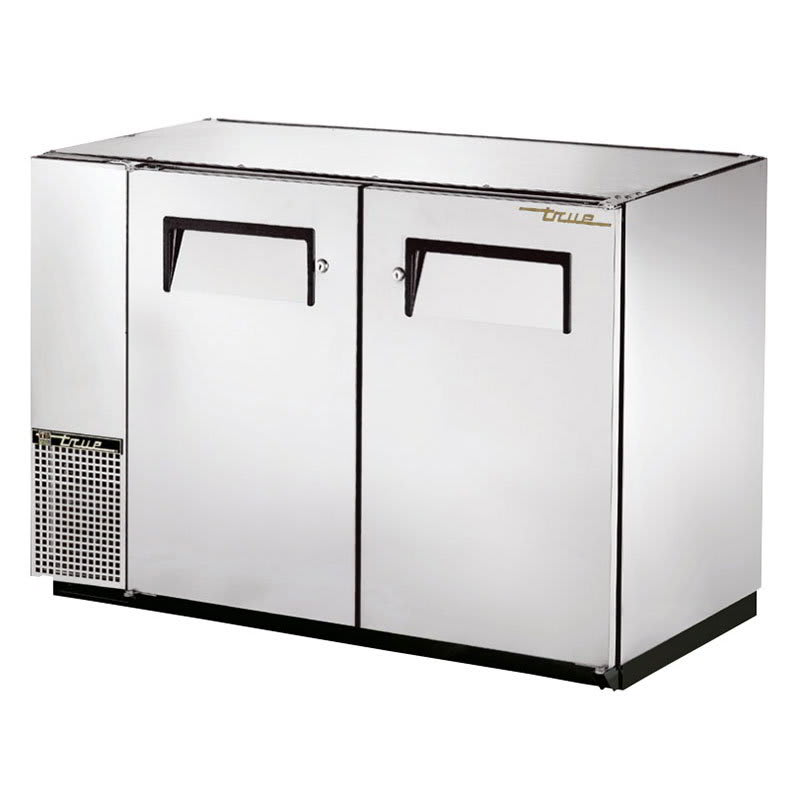 "True TBB-24GAL-48-S-HC 48"" (2) Section Bar Refrigerator - Swinging Solid Doors, 115v"