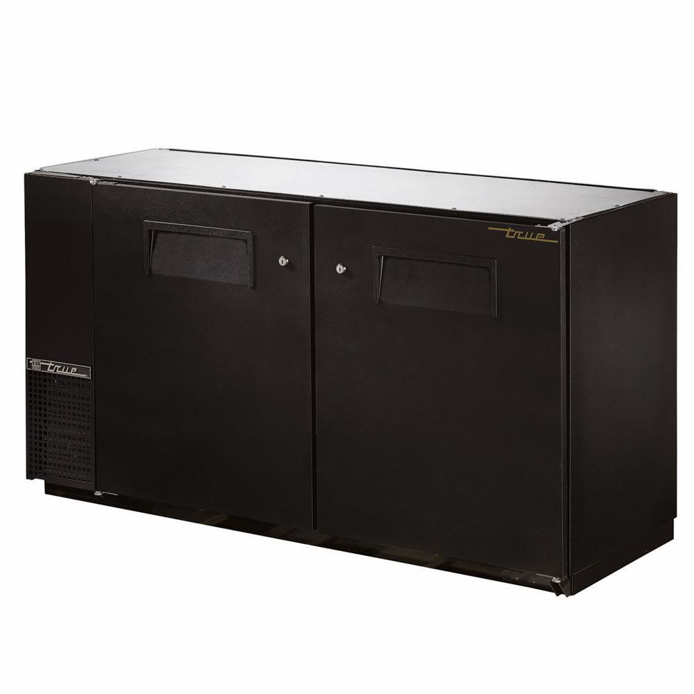 """True TBB-24GAL-60-HC 60"""" (2) Section Bar Refrigerator - Swinging Solid Doors, 115v"""