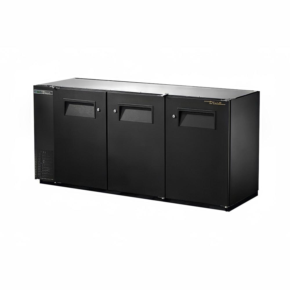 """True TBB-24GAL-72-HC 72"""" (3) Section Bar Refrigerator - Swinging Solid Doors, 115v"""