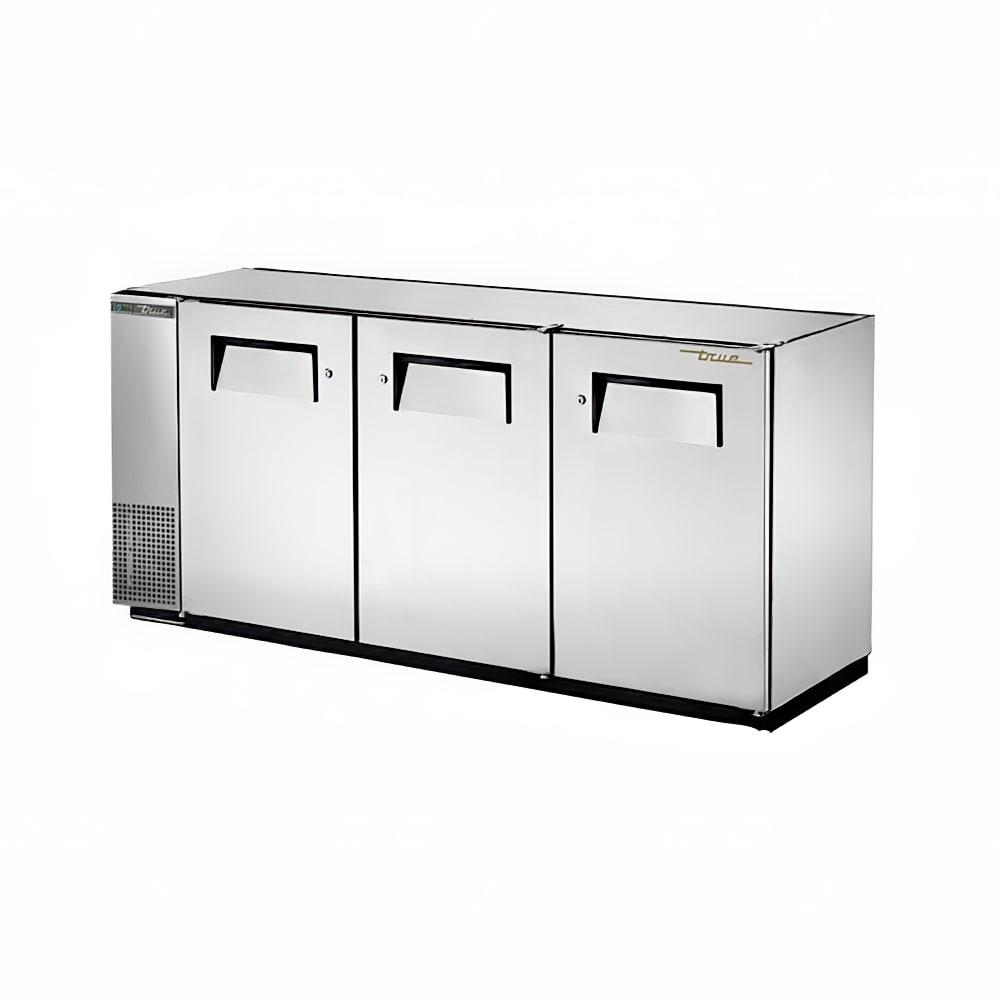 """True TBB-24GAL-72-S-HC 72"""" (3) Section Bar Refrigerator - Swinging Solid Doors, 115v"""