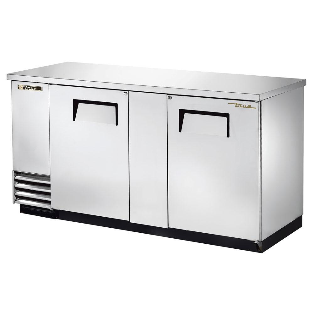"""True TBB-3-S-HC 69"""" (2) Section Bar Refrigerator - Swinging Solid Doors, 115v"""