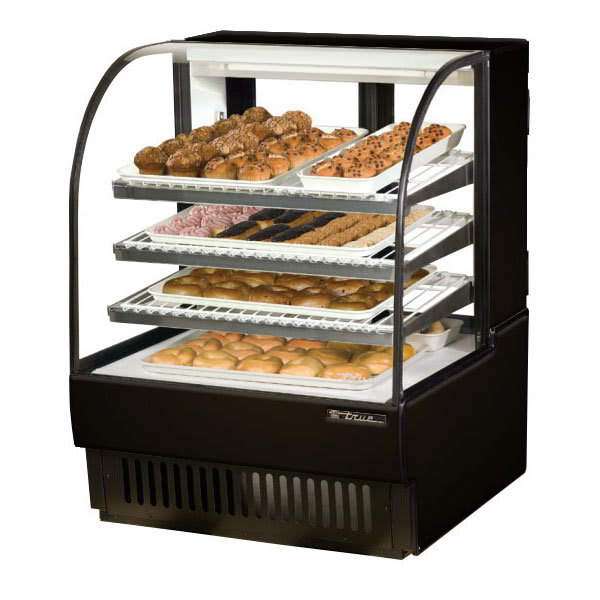 """True TCGD-36 36"""" Full Service Bakery Case w/ Curved Glass - (4) Levels, 115v"""