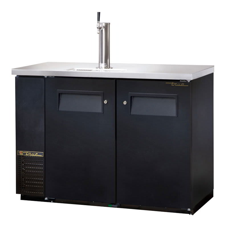 "True TDB-24-48-HC 49"" Draft Beer System w/ (1) Keg Capacity - (1) Column, Black, 115v"