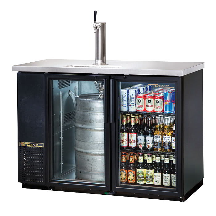 "True TDB-24-48G-HC-LD 49"" Draft Beer System w/ (1) Keg Capacity - (1) Column, Black, 115v"