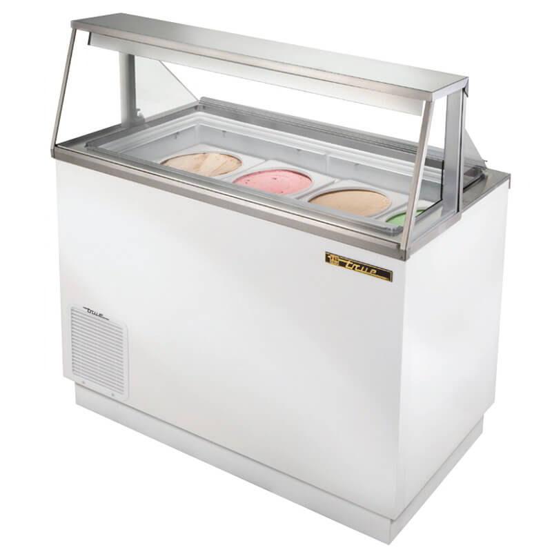 "True TDC-47 47.13"" Stand Alone Ice Cream Freezer w/ 8-Tub Capacity & 5-Tub Storage, 115v"
