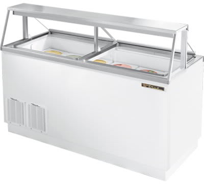 "True TDC-67 67.75"" Stand Alone Ice Cream Freezer w/ 12-Tub Capacity & 8-Tub Storage, 115v"