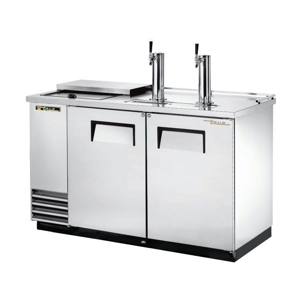 "True TDD-2CT-S-HC 59"" Draft Beer System w/ (2) Keg Capacity - (2) Columns, Stainless, 115v"