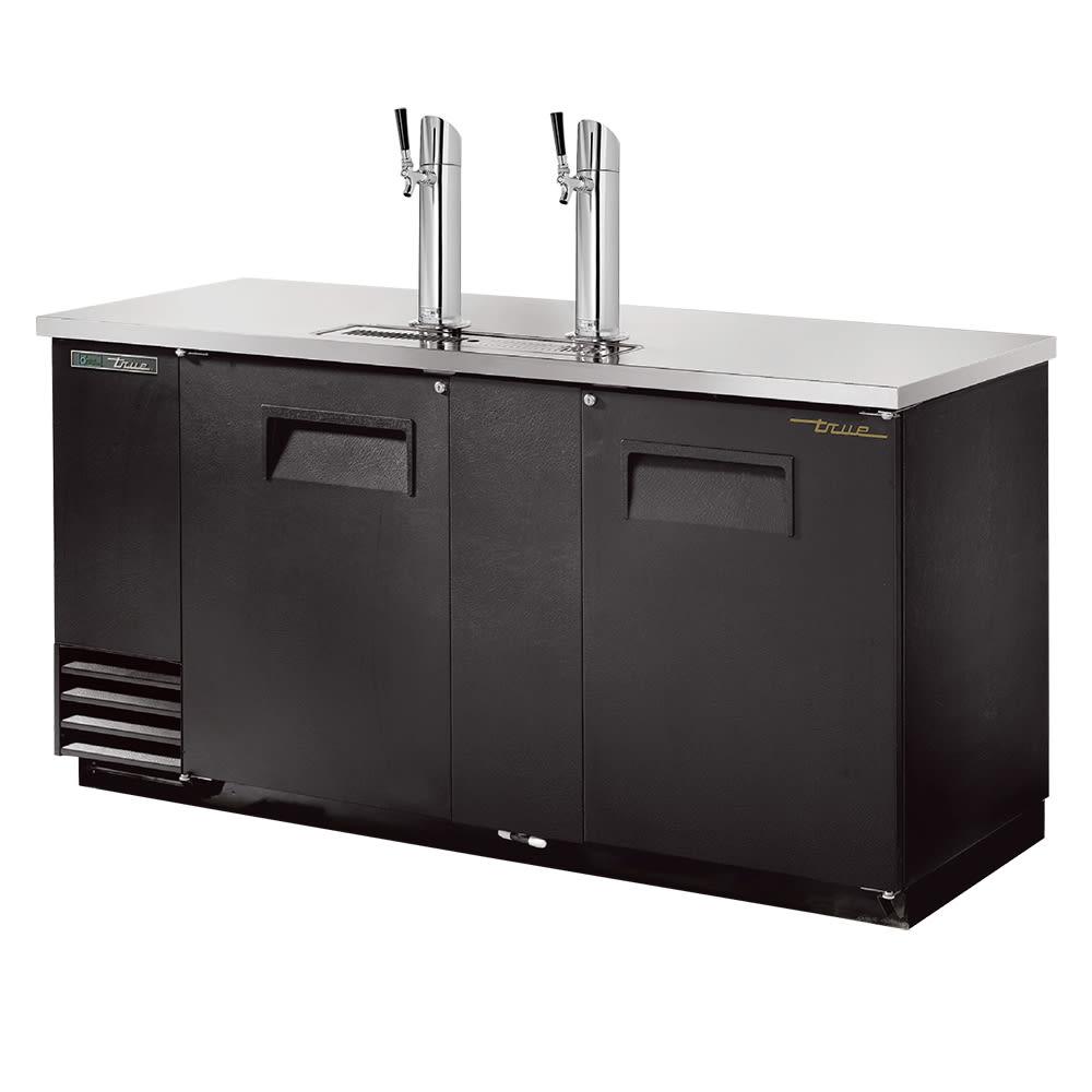 """True TDD-3-HC 69"""" Draft Beer System w/ (3) Keg Capacity - (2) Columns, Black, 115v"""