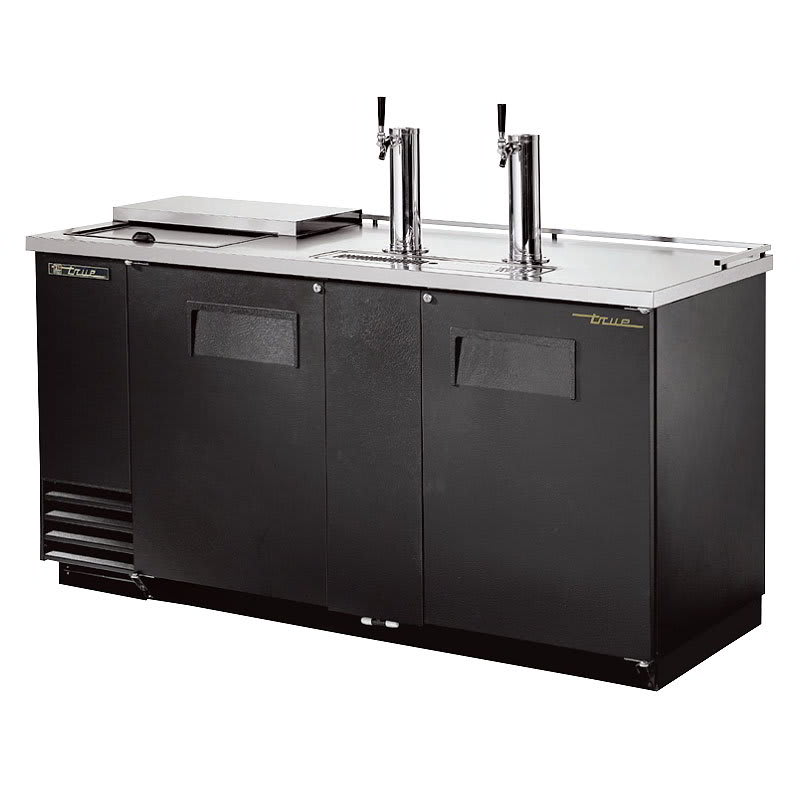 "True TDD-3CT-HC 69"" Draft Beer System w/ (3) Keg Capacity - (2) Columns, Black, 115v"