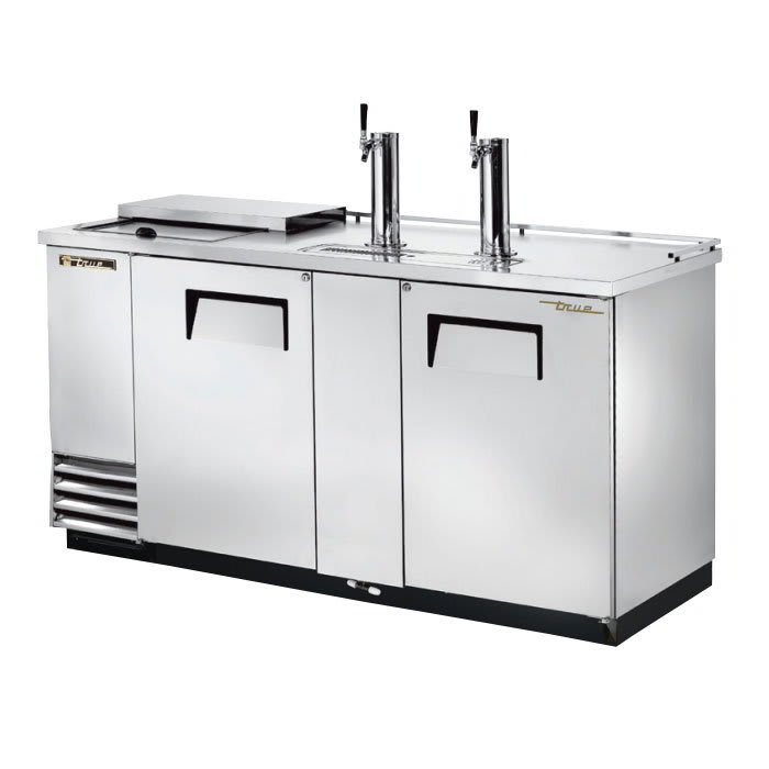 "True TDD-3CT-S-HC 69"" Draft Beer System w/ (3) Keg Capacity - (2) Columns, Stainless, 115v"